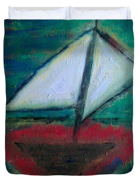 Sailboat Duvet Cover by Jacqueline McReynolds