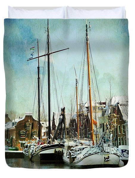 Sailboats Duvet Cover by Annie Snel