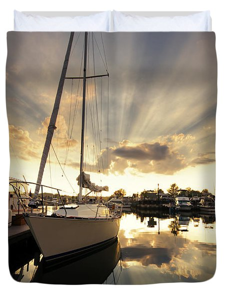 Sailed In Duvet Cover by Alexey Stiop