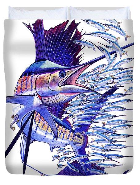 Sailfish Ballyhoo Duvet Cover by Carey Chen