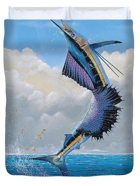 Sailfish Dance Off0054 Duvet Cover by Carey Chen