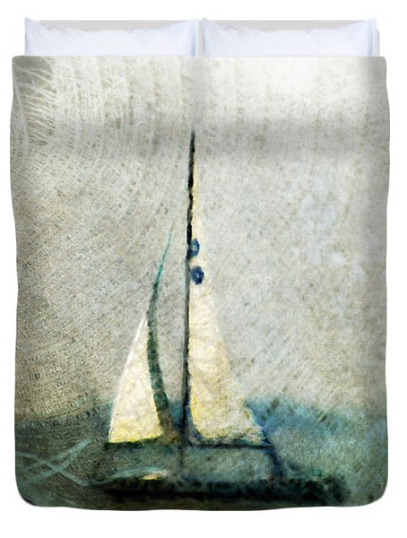 Sailin' With Sally Starr Duvet Cover by Trish Tritz