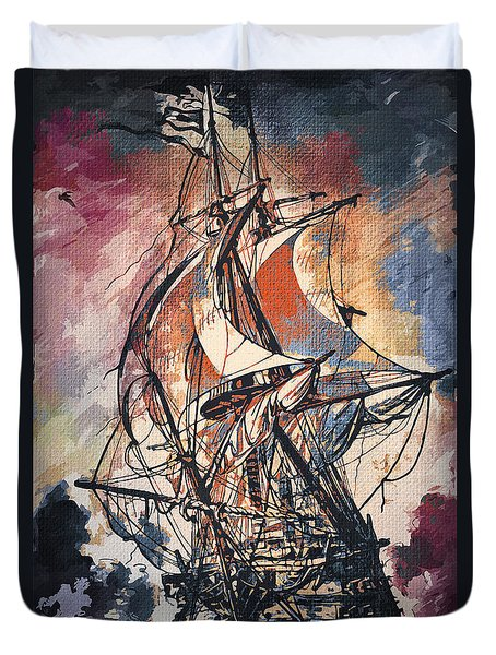 Sailing 2  Duvet Cover