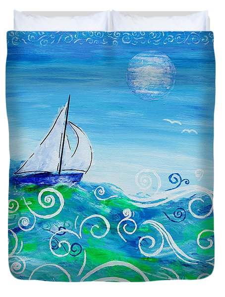 Sailing By Jan Marvin Duvet Cover