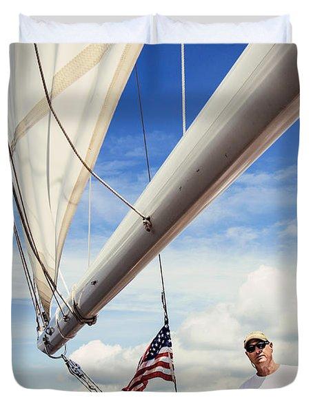 Sailing Captain Pride Duvet Cover
