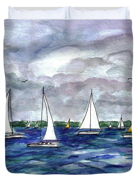 Sailing Day Duvet Cover
