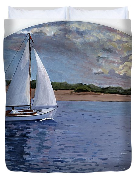 Sailing Homeward Bound Duvet Cover