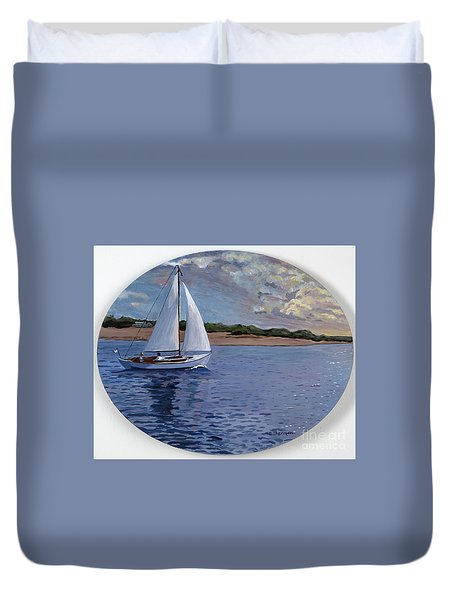 Sailing Homeward Bound Duvet Cover