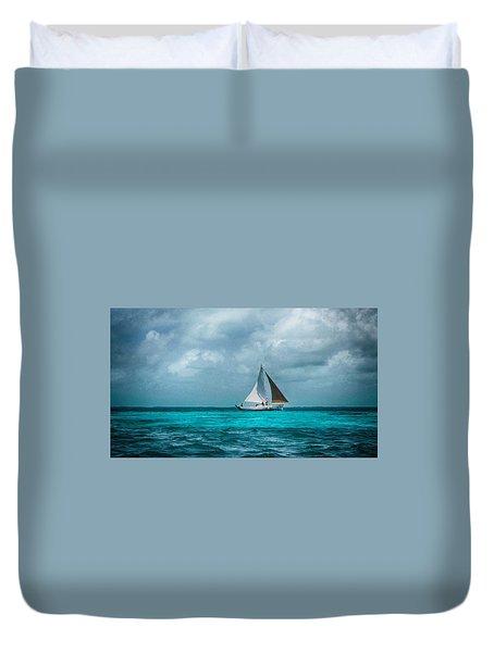 Sailing In Blue Belize Duvet Cover