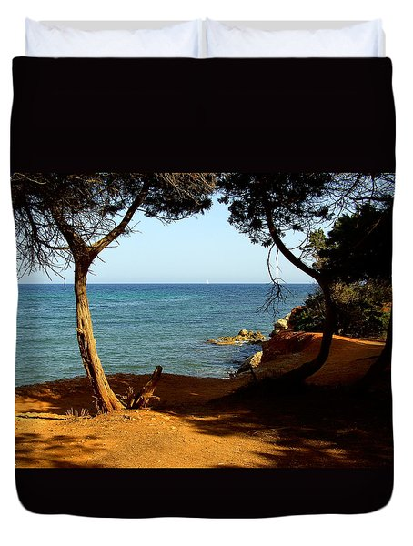 Sailing In Solitude Duvet Cover