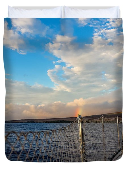 Sailing Lahaina Bay Duvet Cover