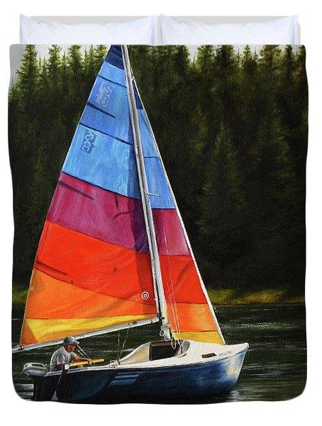 Sailing On Flathead Duvet Cover