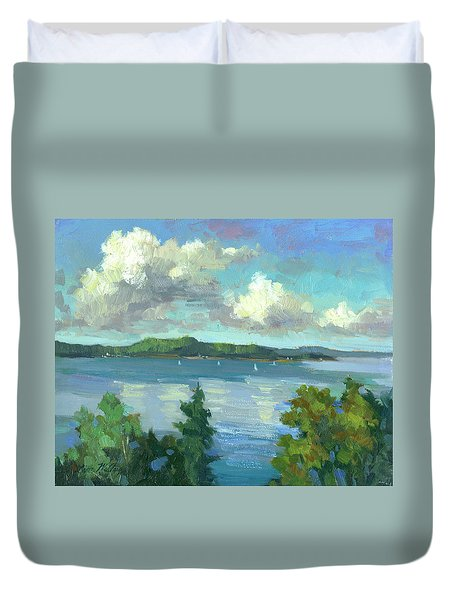 Sailing On Puget Sound Duvet Cover