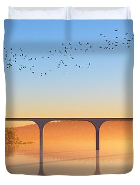 Sailing Out To Sea... Duvet Cover by Tim Fillingim
