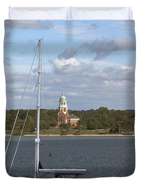Sailing Past Netley Duvet Cover
