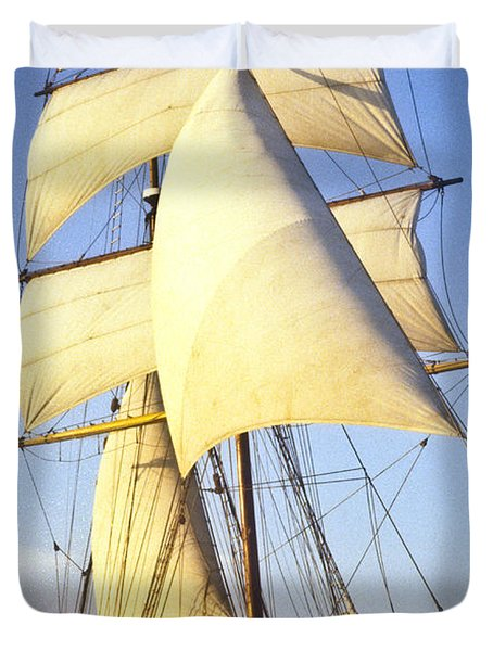 Sailing Ship Carribean Duvet Cover