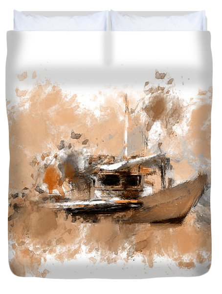 Sailing Time Duvet Cover by Lourry Legarde