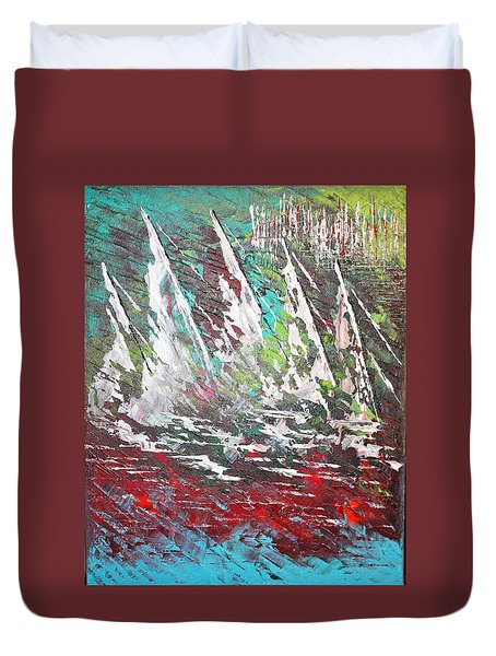 Sailing Together - Sold Duvet Cover
