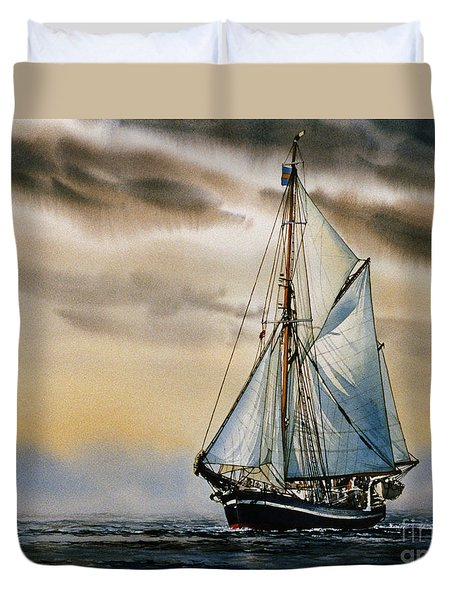 Sailing Vessel Seute Deern Duvet Cover by James Williamson