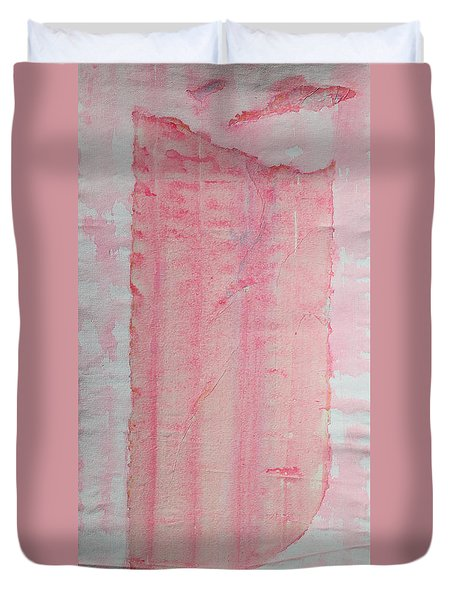 Sailing With Clouds In Pink Duvet Cover by Asha Carolyn Young