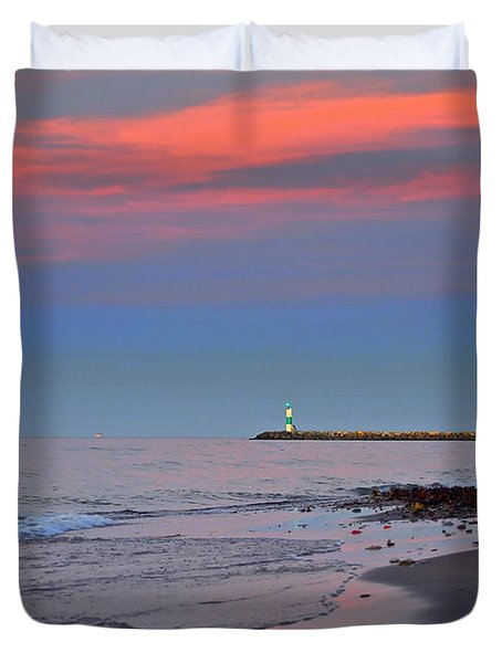 Sailors Guide Duvet Cover by Frozen in Time Fine Art Photography
