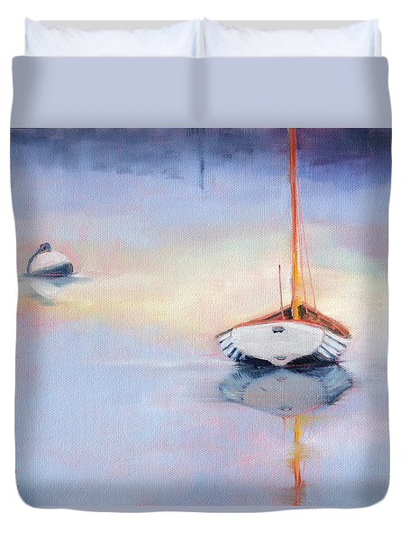 Sails Down - Evening Stillness Duvet Cover