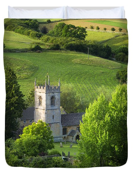 Duvet Cover featuring the photograph Saint Andrews - Cotswolds by Brian Jannsen