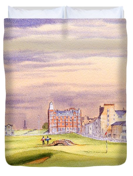 Saint Andrews Golf Course Scotland - 17th Green Duvet Cover by Bill Holkham