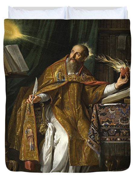 Saint Augustine Duvet Cover