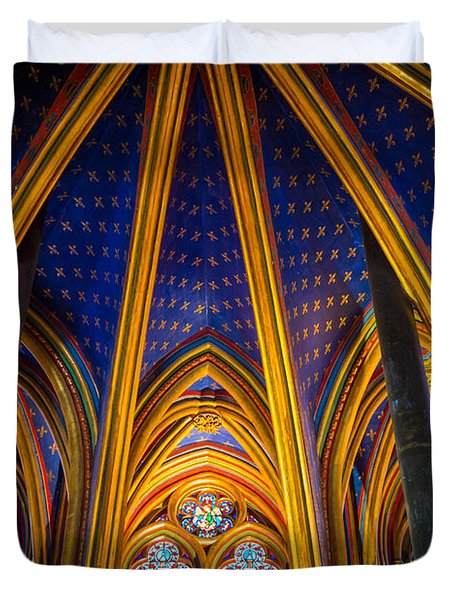 Saint Chapelle Ceiling Duvet Cover