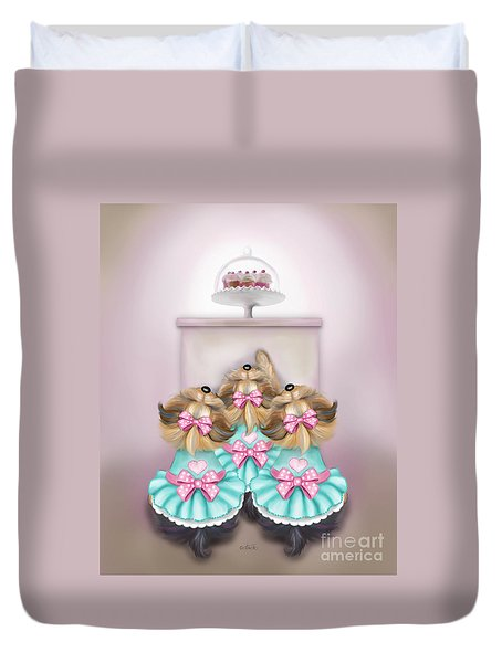 Saint Cupcakes Duvet Cover