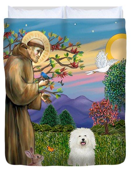 Saint Francis Blesses A Bolognese Duvet Cover