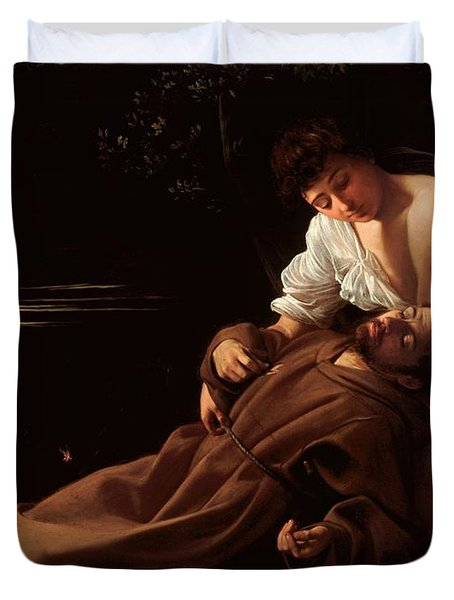 Saint Francis Of Assisi In Ecstasy 2 Duvet Cover by Caravaggio