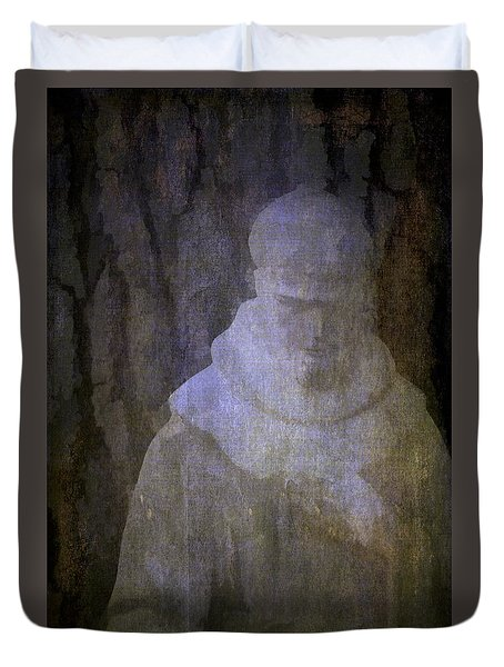 Duvet Cover featuring the photograph Saint Francis by Pamela Cooper