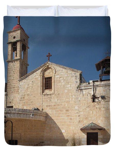 Saint Gabriels Greek Orthodox Church Duvet Cover