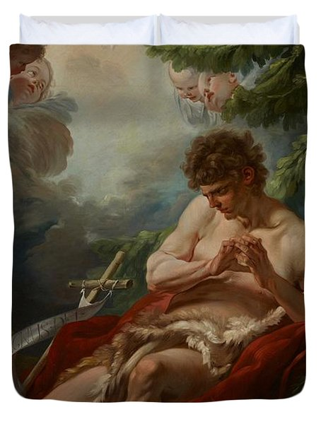 Saint John The Baptist Duvet Cover by Francois Boucher