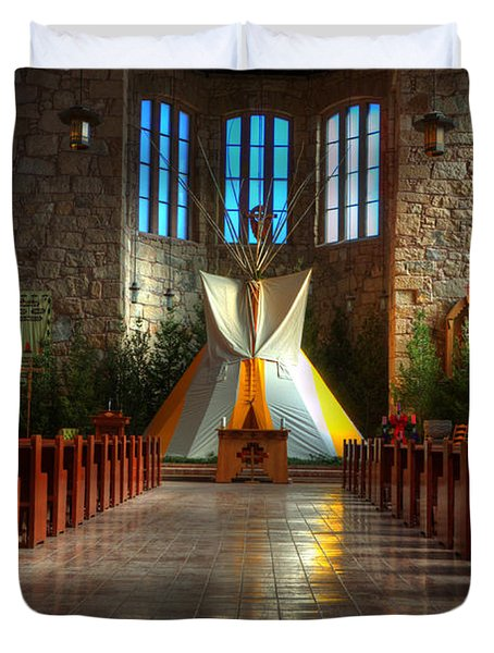 Saint Josephs Apache Mission Duvet Cover