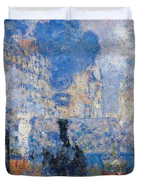 Saint Lazare Station Duvet Cover by Claude Monet