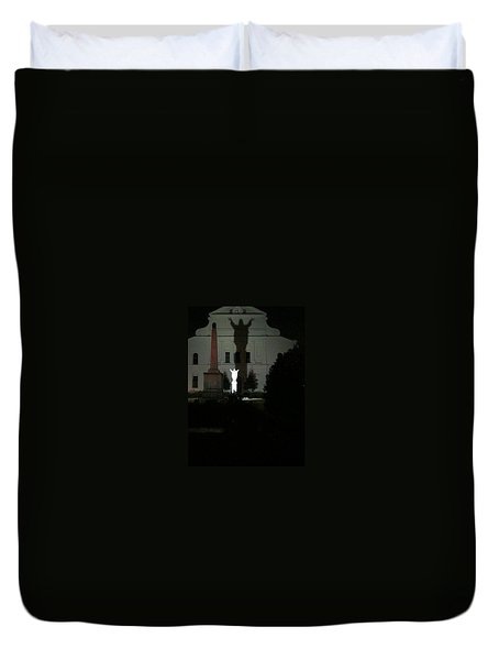 Saint Louis Cathedral Courtyard - New Orleans La Duvet Cover