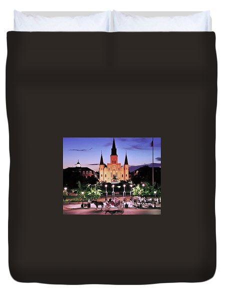 Saint Louis Cathedral New Orleans Duvet Cover