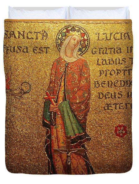 Saint Lucia Altar Duvet Cover