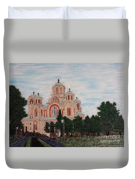 Saint Marko Church  Belgrade  Serbia  Duvet Cover
