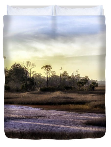 Saint Marks Wetland Sunset Duvet Cover