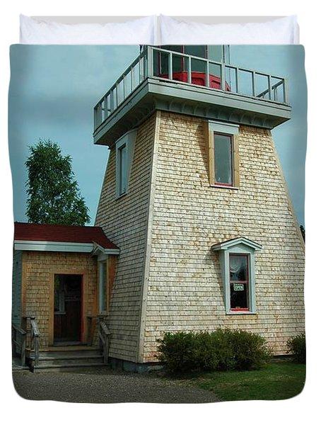Saint Martin's Lighthouse Duvet Cover by Kathleen Struckle