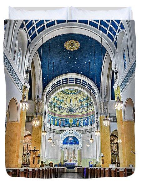 Saint Mary's Altar Duvet Cover by Susan Candelario