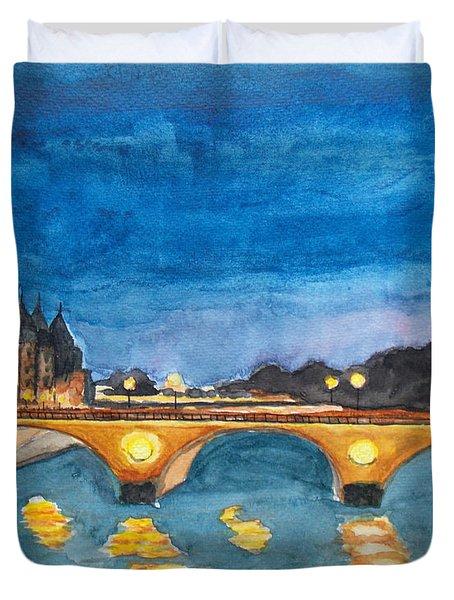 Saint-michael Bvd. Paris Duvet Cover
