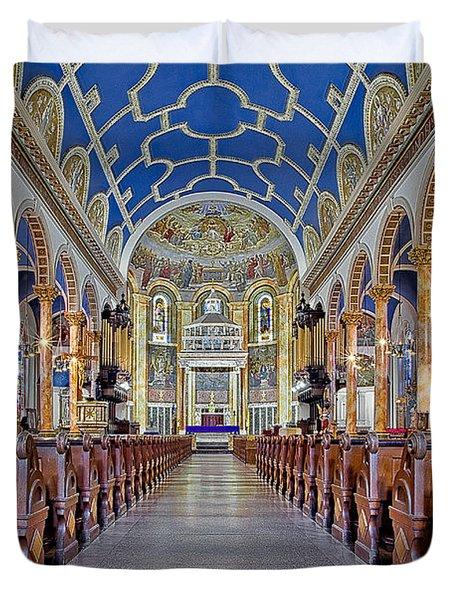 Saint Michael Catholic Church Duvet Cover by Susan Candelario