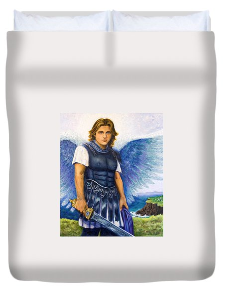 Saint Michael The Archangel Duvet Cover by Patty Kay Hall
