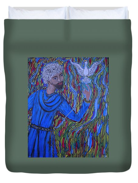 Saint Peter Duvet Cover by Marie Schwarzer