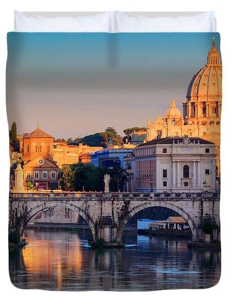 Saint Peters Basilica Duvet Cover by Inge Johnsson